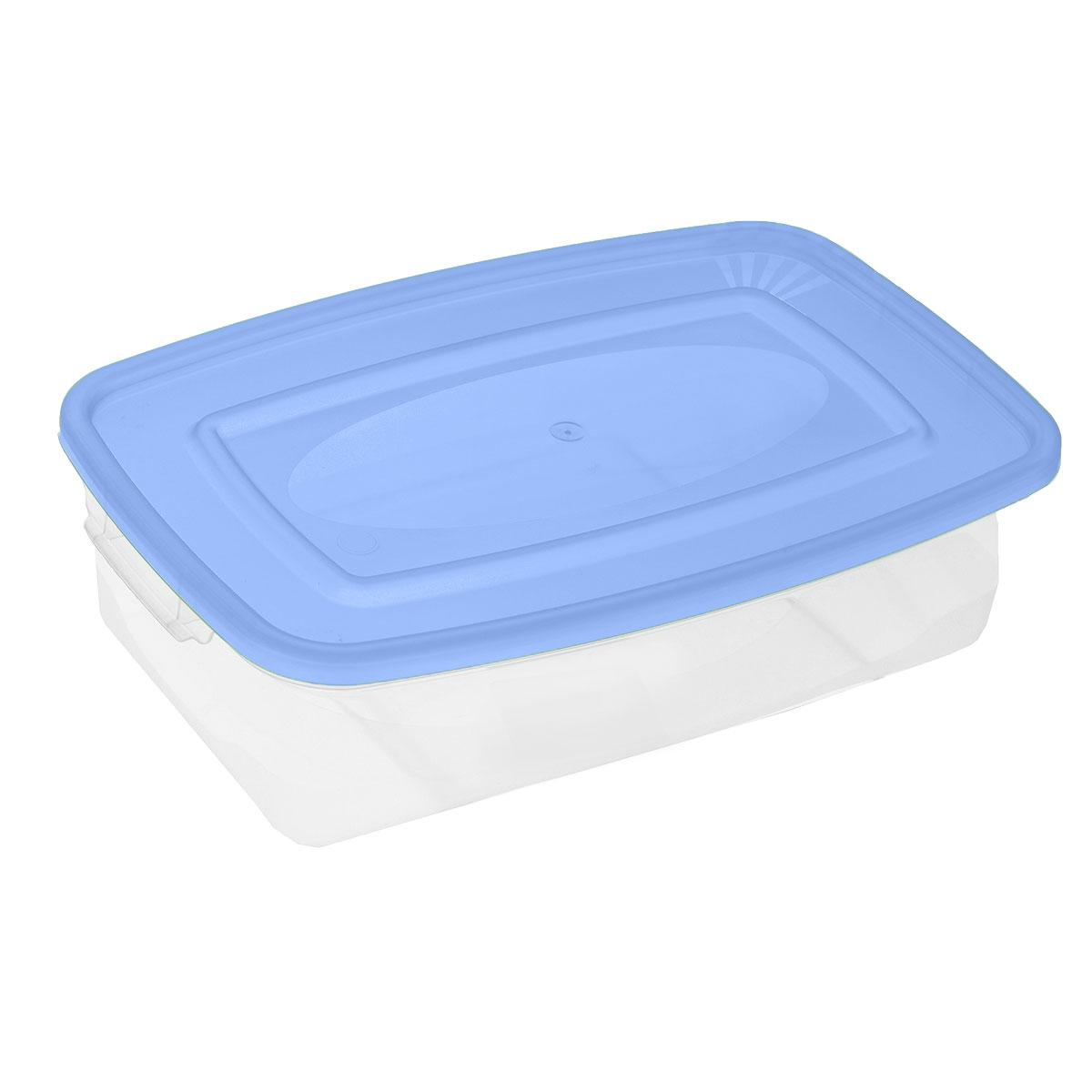 Контейнер для СВЧ Полимербыт Каскад, цвет: голубой, прозрачный, 700 млС540_голубой, прозрачныйПрямоугольный контейнер для СВЧ Полимербыт Каскад изготовлен из высококачественного прочного пластика, устойчивого к высоким температурам (до +120°С). Стенки контейнера прозрачные, что позволяет видеть содержимое. Цветная полупрозрачная крышка плотно закрывается. Контейнер идеально подходит для хранения пищи, его удобно брать с собой на работу, учебу, пикник или просто использовать для хранения пищи в холодильнике. Можно использовать в микроволновой печи и для заморозки в морозильной камере. Можно мыть в посудомоечной машине.