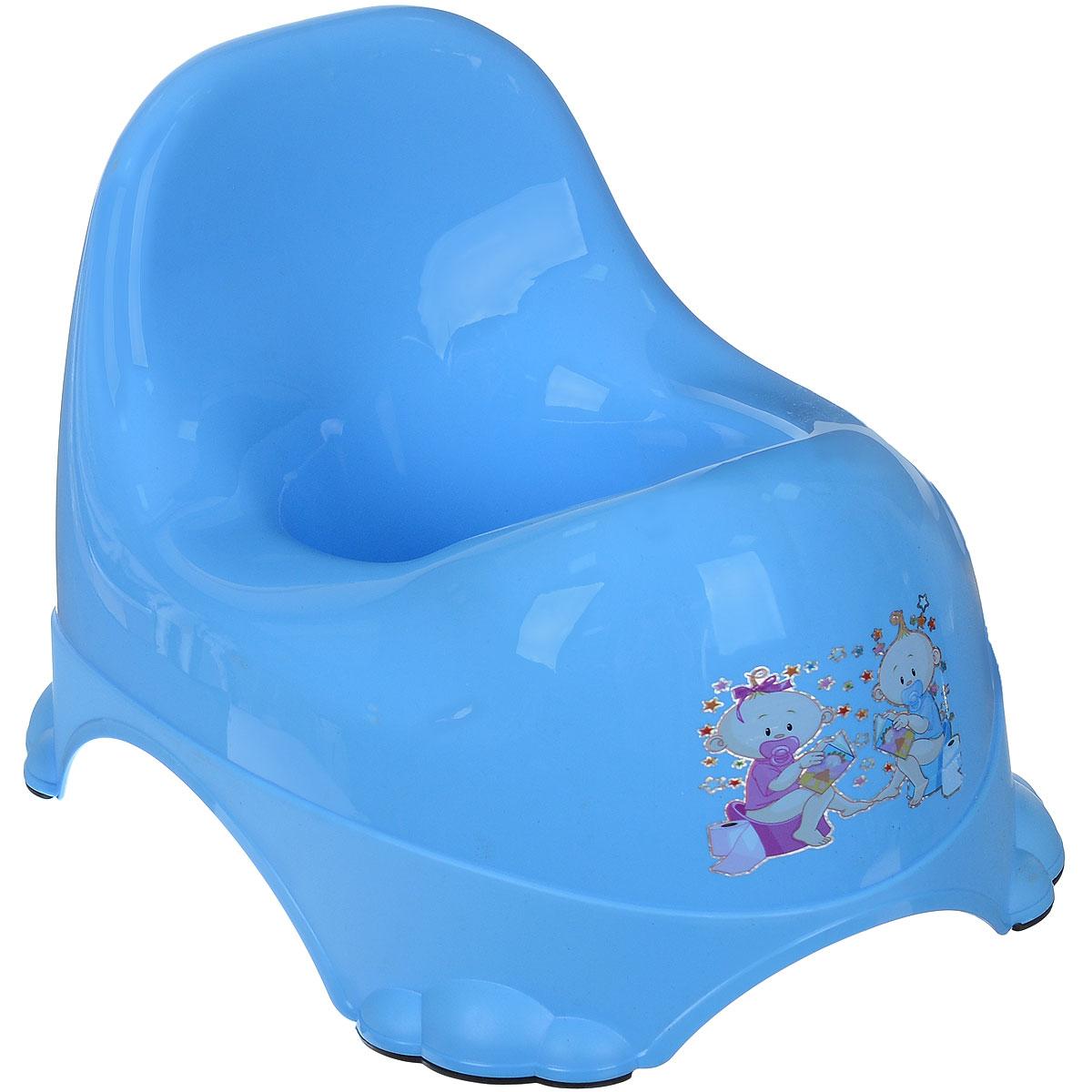 Горшок детский Dunya Plastik Ниш-бэйби, цвет: голубой11113_голубойДетский горшок Dunya Plastik Ниш-бэйби выполнен из безопасного пластика без содержания токсичных веществ. Устойчивая конструкция, эргономичный дизайн и высокая спинка горшка обеспечивают удобное сидячее положение и способствуют улучшению осанки, а действенная защита предотвращает разбрызгивание. Корпус горшка оформлен красочным изображением. Ножки горшка в виде лапок имеют прорезиненное основание для меньшего скольжения. Горшок очень легкий, имеет удобную ручку для переноски и гладкую закругленную поверхность, которую легко мыть. Детский горшок Dunya Plastik Ниш-бэйби идеален для приучения ребенка к горшку и отказу от подгузников.