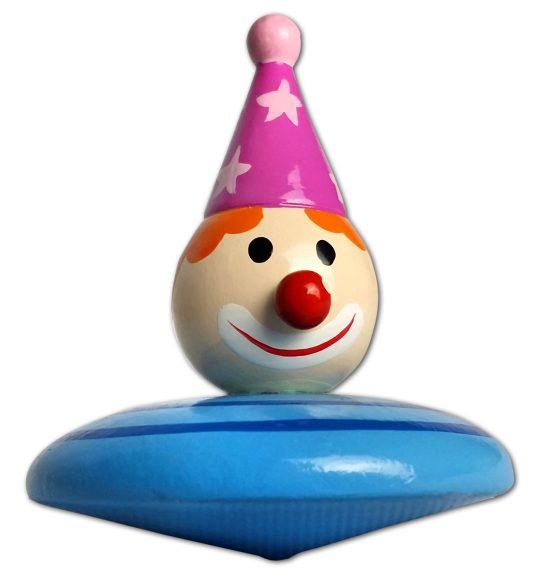 Mapacha Волчок Клоун76438Волчок – динамическая игрушка, которая знакомит ребенка с физическими понятиями равновесия и движения. Играя с волчком, ребенок тренирует мелкую моторику рук и развивает внимательность. Высота игрушки: 5,5 см . Диаметр игрушки: 5,5 см .