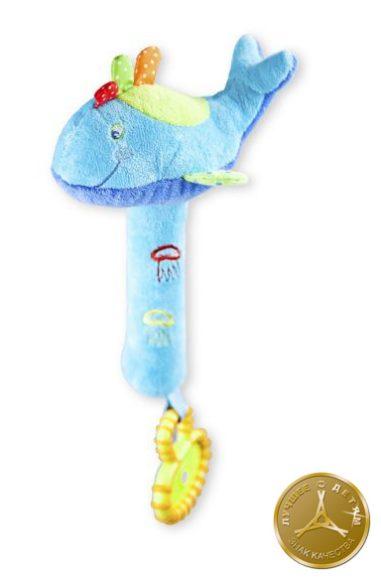 Жирафики Развивающая игрушка Кит с пищалкой