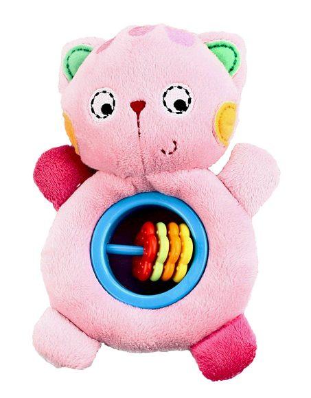 Жирафики Развивающая игрушка Котенок93645Погремушка - очень древняя игрушка! Наши предки считали, что погремушка помогает отогнать злых духов от детской колыбели, а сегодня специалисты утверждают, что игрушка развивает слуховое, пространственное и зрительное восприятие, а также тактильные ощущения, учит находить источник звука, сосредотачиваться и следить за движением. При встряхивании погремушка издает характерный приятный звук. Малыш с интересом будет следить за гремящими разноцветными колечками.