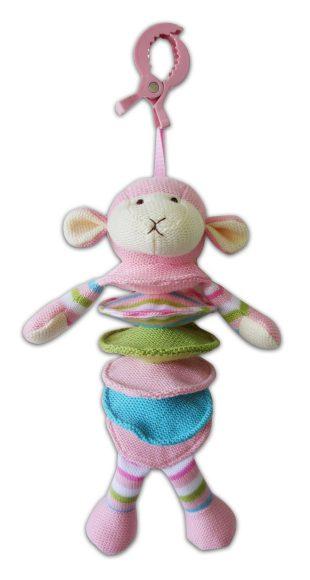 Жирафики Развивающая игрушка Овечка розовая , муз, подвеска - Жирафики939272Развивающая игрушка Овечка предназначена для самых маленьких. Игрушку можно подвесить к детской кроватке. Если потянуть овечку вниз, заиграет приятная мелодия. Играя, малютка развивает мелкую моторику рук, слух и тактильные ощущения. Длина: 27 см.