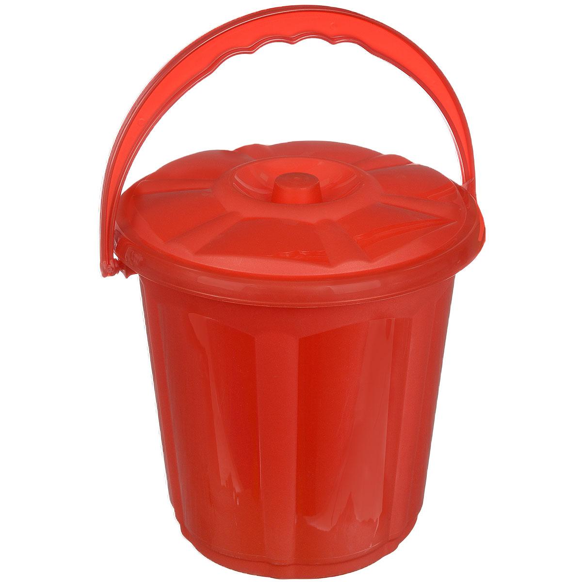 Ведро Dunya Plastik Стиль, с крышкой, цвет: красный, 5 л9101_красныйВедро Dunya Plastik Стиль изготовлено из прочного пластика. Изделие оснащено плотно закрывающейся крышкой и удобной ручкой. Такое ведро прекрасно подойдет для различных хозяйственных нужд: для уборки или хранения мусора. Диаметр ведра (по верхнему краю): 20,5 см. Высота (без учета крышки): 20 см.