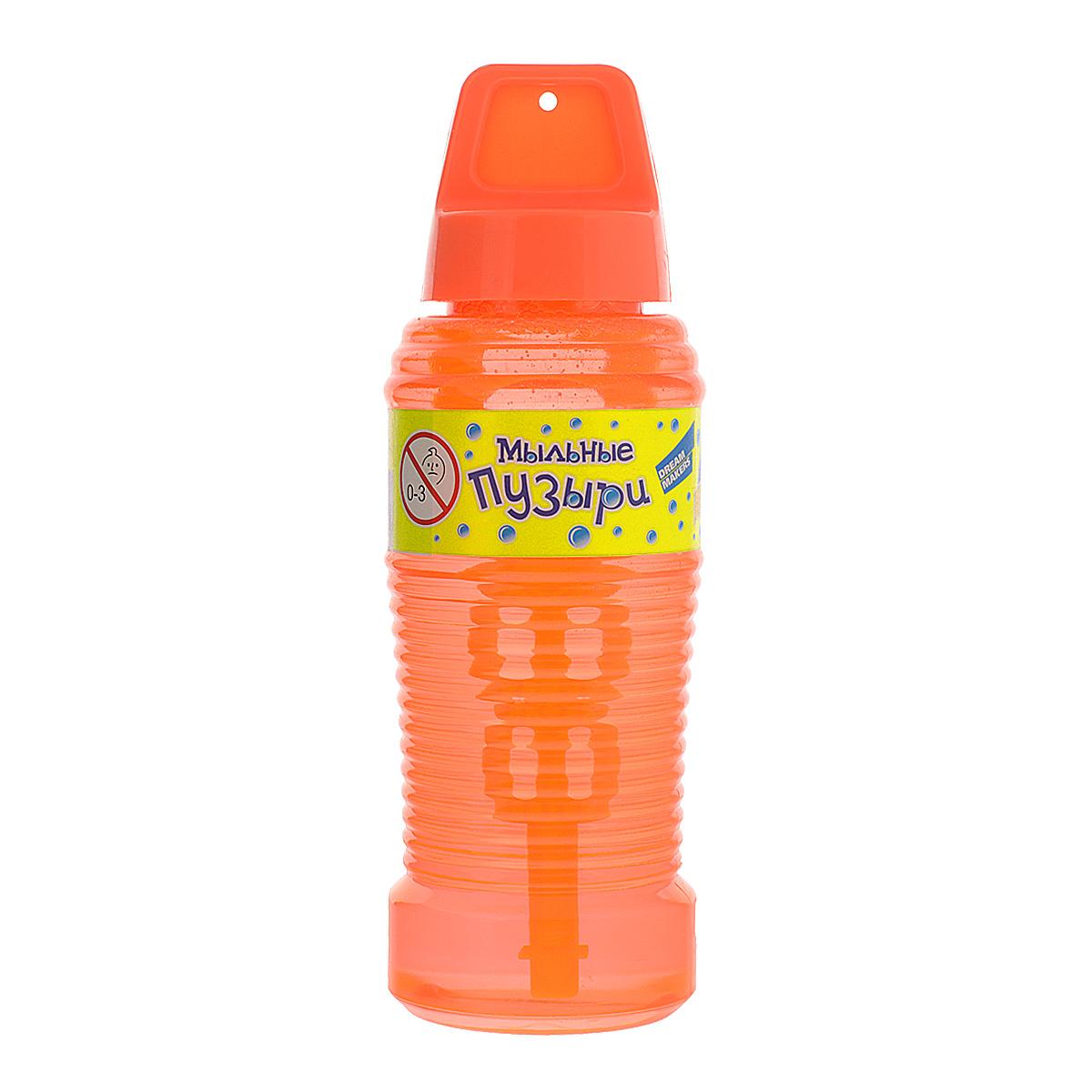 Мыльные пузыри Dream Makers Пузырия, цвет: оранжевый, 240 мл219T_оранжевыйПарящие в воздухе, большие и маленькие, блестящие мыльные пузыри всегда привлекают к себе особое внимание не только детишек, но и взрослых. Смеющиеся ребята с удовольствием забавляются и поднимают настроение всем окружающим, создавая неповторимую веселую атмосферу солнечного радостного дня. Это занятие знакомо всем. Важнейшей характеристикой при выборе пузырей является их долговечность и прочность. Выбрав мыльные шарики Dream Makers Пузырия, вы будете очень удивлены их количеством и величиной. Специальный, усовершенствованный, мыльный раствор позволяет не лопаться даже тем пузырям, которые упали на пол. Объем: 240 мл.