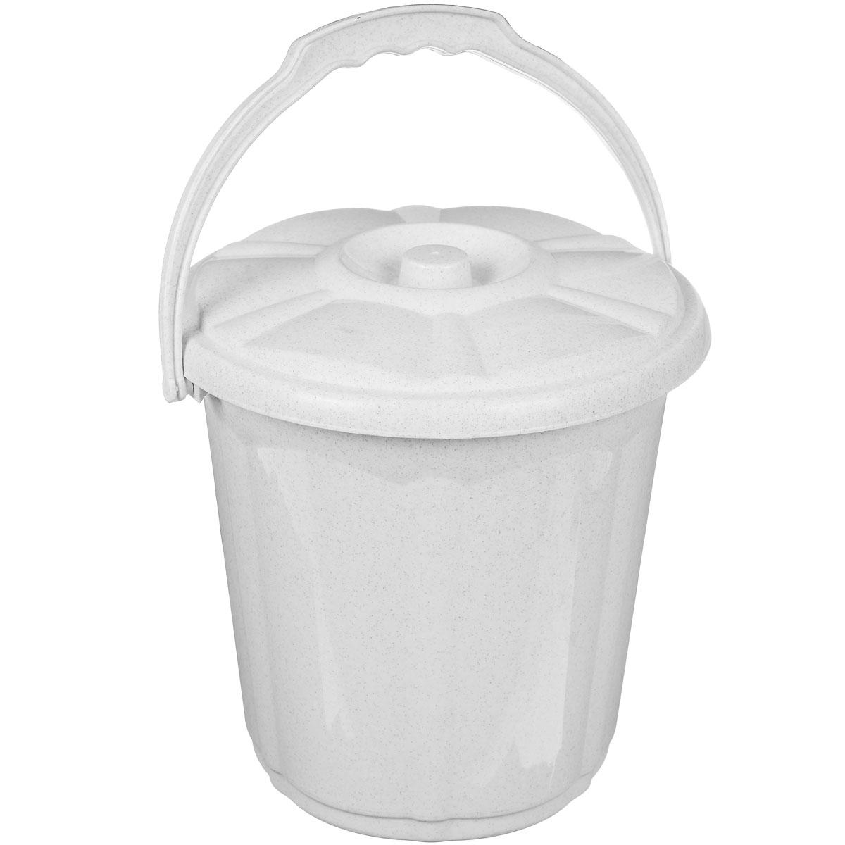Ведро Dunya Plastik Стиль, с крышкой, цвет: белый, 7 л9102_белыйВедро Dunya Plastik Стиль изготовлено из прочного пластика. Изделие оснащено плотно закрывающейся крышкой и удобной ручкой. Такое ведро прекрасно подойдет для различных хозяйственных нужд: для уборки или хранения мусора. Диаметр ведра (по верхнему краю): 24 см. Высота (без учета крышки): 24 см.
