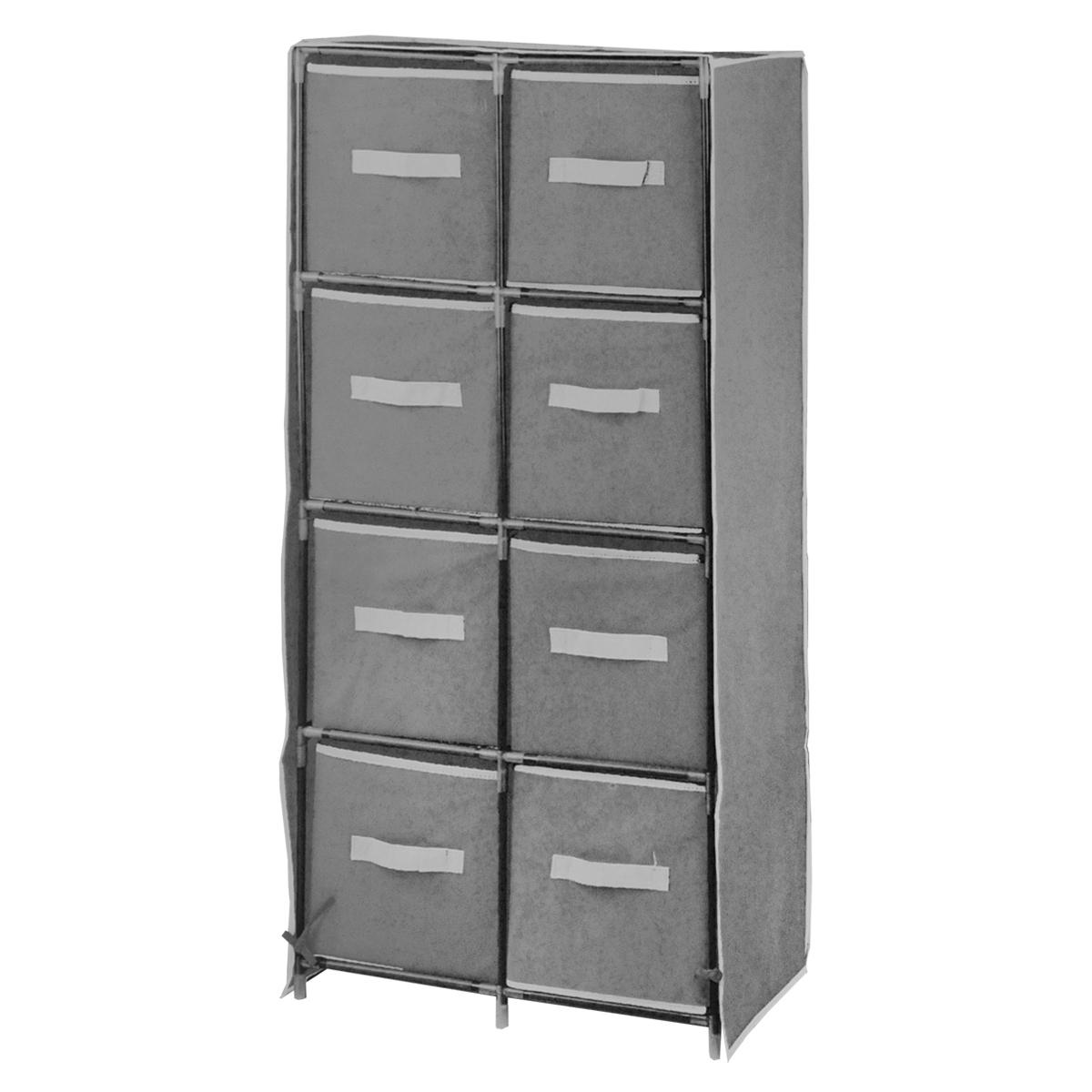 Мобильный шкаф для хранения, цвет: серый, 56 см х 30 см х 105 см