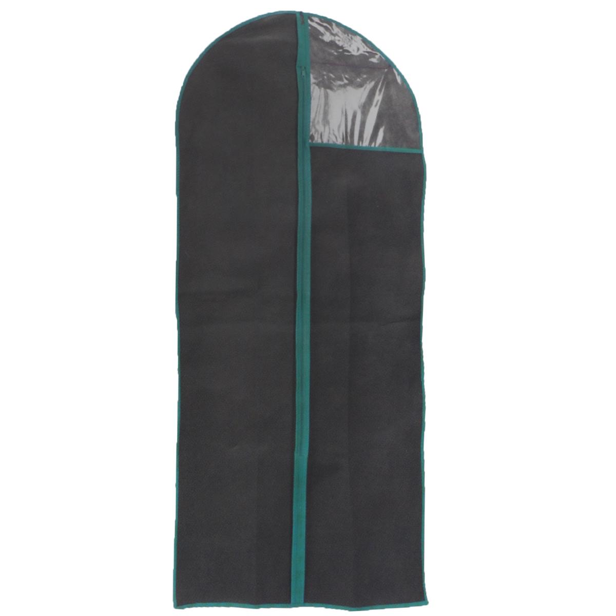 Чехол для одежды, цвет: черный, 60 см х 90 смFS-6502S-WЧехол для одежды изготовлен из высококачественного нетканого материала. Особое строение полотна создает естественную вентиляцию: материал дышит и позволяет воздуху свободно проникать внутрь чехла, не пропуская пыль. Благодаря форме чехла, одежда не мнется даже при длительном хранении. Застегивается на молнию. Окошко из пластика позволяет видеть, какие вещи находятся внутри. Чехол для одежды будет очень полезен при транспортировке вещей на близкие и дальние расстояния, при длительном хранении сезонной одежды, а также при ежедневном хранении вещей из деликатных тканей. Чехол для одежды не только защитит ваши вещи от пыли и влаги, но и поможет доставить одежду на любое мероприятие в идеальном состоянии.