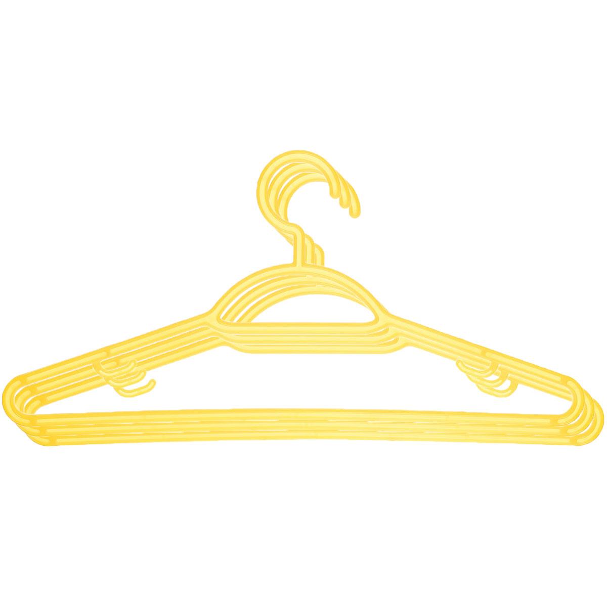 Набор вешалок Econova, с перекладиной, с крючками, цвет: желтый, размер 48, 3 шт. С12356С12356_желтыйНабор Econova, выполненный из прочного пластика, состоит из 3 вешалок. Каждое изделие оснащено перекладиной и боковыми крючками. Вешалка - это незаменимая вещь для того, чтобы ваша одежда всегда оставалась в хорошем состоянии. Комплектация: 3 шт. Размер одежды: 48.