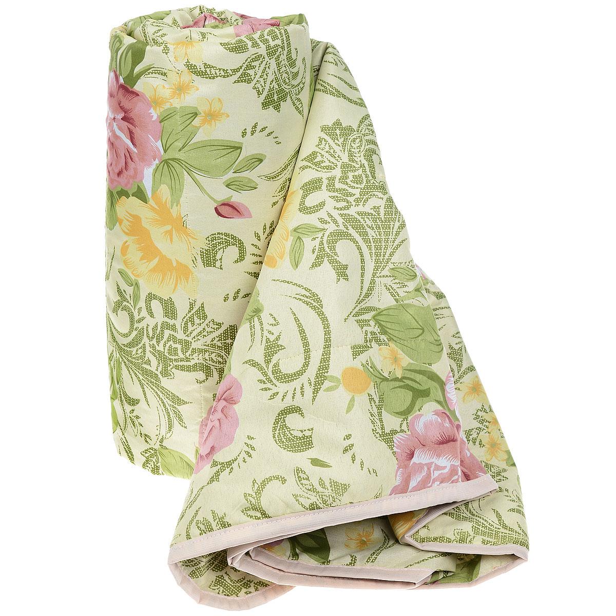 Одеяло летнее OL-Tex Miotex, наполнитель: холфитекс, цвет: зеленый, розовый, 200 см х 220 см. МХПЭ-22-1МХПЭ-22-1_зеленый, розовые розыЛегкое летнее одеяло OL-Tex Miotex создаст комфорт и уют во время сна. Чехол выполнен из полиэстера и оформлен красочным цветочным рисунком. Внутри - современный наполнитель из полиэфирного высокосиликонизированного волокна холфитекс, упругий и качественный. Прекрасно держит тепло. Одеяло с наполнителем холфитекс легкое и комфортное. Даже после многократных стирок не теряет свою форму, наполнитель не сбивается, так как одеяло простегано и окантовано. Рекомендации по уходу: - Ручная и машинная стирка при температуре 30°С. - Не гладить. - Не отбеливать. - Нельзя отжимать и сушить в стиральной машине. - Сушить вертикально. Размер одеяла: 200 см х 220 см. Материал чехла: 100% полиэстер. Материал наполнителя: холфитекс.