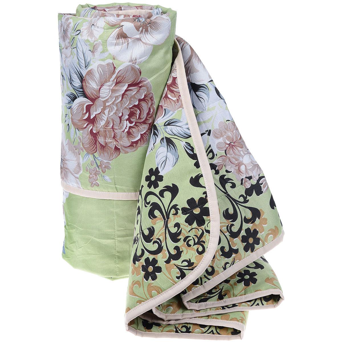 Одеяло летнее OL-Tex Miotex, наполнитель: холфитекс, цвет: зеленый, коричневый, 200 х 220 см МХПЭ-22-1МХПЭ-22-1_зеленый, коричневые цветыЛегкое летнее одеяло OL-Tex Miotex создаст комфорт и уют во время сна. Чехол выполнен из полиэстера и оформлен красочным цветочным рисунком. Внутри - современный наполнитель из полиэфирного высокосиликонизированного волокна холфитекс, упругий и качественный. Прекрасно держит тепло. Одеяло с наполнителем холфитекс легкое и комфортное. Даже после многократных стирок не теряет свою форму, наполнитель не сбивается, так как одеяло простегано и окантовано. Рекомендации по уходу: - Ручная и машинная стирка при температуре 30°С. - Не гладить. - Не отбеливать. - Нельзя отжимать и сушить в стиральной машине. - Сушить вертикально. Размер одеяла: 200 см х 220 см. Материал чехла: 100% полиэстер. Материал наполнителя: холфитекс.