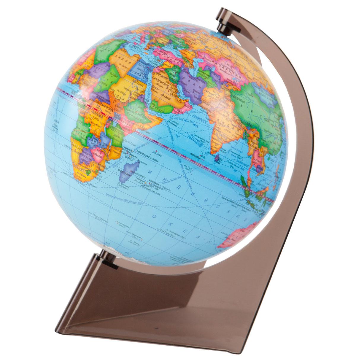 Глобус политический диаметр 210 мм на треугольной подставке10277