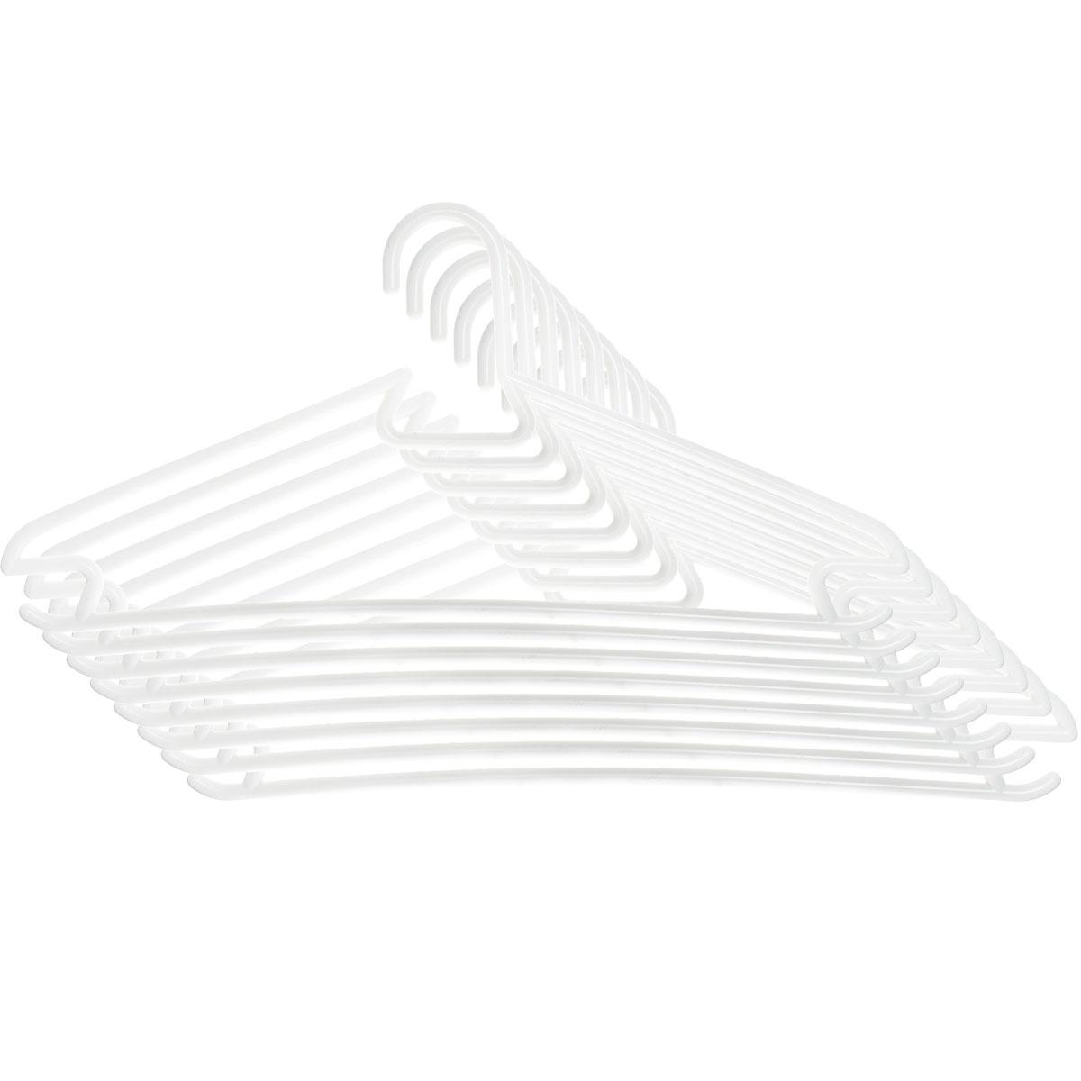 Вешалка для одежды MTM Популярная, цвет: белый, 8 шт4127_белыйУниверсальная вешалка для одежды MTM Популярная изготовлена из легкого и гибкого пластика. Изделие оснащено перекладиной и двумя крючками. Вешалка - это незаменимая вещь для того, чтобы ваша одежда всегда оставалась в хорошем состоянии.