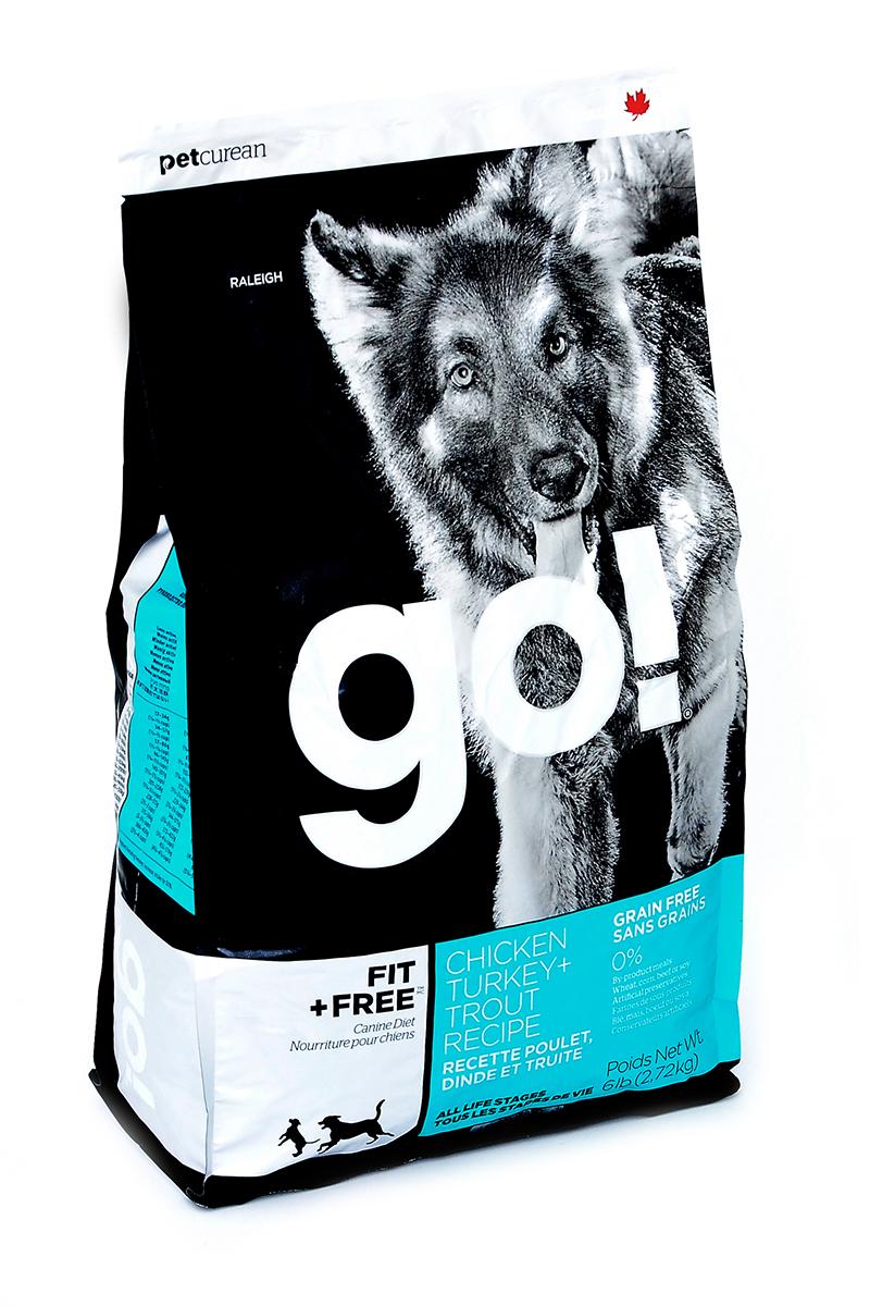 Корм сухой для собак Go!, беззерновой, с индейкой, курицей, уткой и лососем, 2,72 кг10262Сухой корм Go!- это первый беззерновой корм, который является полностью сбалансированным питанием для собак разных возрастов и с разной активностью. Корм содержит четыре вида мяса: филе индейки, курицы, утки и лосося без костей. Он обладает сбалансированным содержанием белков и жиров и не содержит субпродуктов, искусственных красителей, ароматизаторов и консервантов. Состав: свежее мясо курицы, свежее мясо индейки, свежее мясо лосося, филе курицы, филе индейки, филе форели, картофель, горох, тапиока, чечевица, горошек, утиное филе, куриный жир (источник витамина Е), натуральный куриный ароматизатор, свежие цельные яйца, яблоки, сельдь, масло лосося, люцерна, утиное филе, филе лосося, сладкий картофель, рапсовое масло, кокосовое масло (источники витамина Е), льняное семя, хлорид калия, тыква, морковь, бананы, черника, клюква, брокколи, шпинат, ростки люцерны, ежевика, кабачки, папайя, гранат, сухой корень цикория, Lactobacillus,...