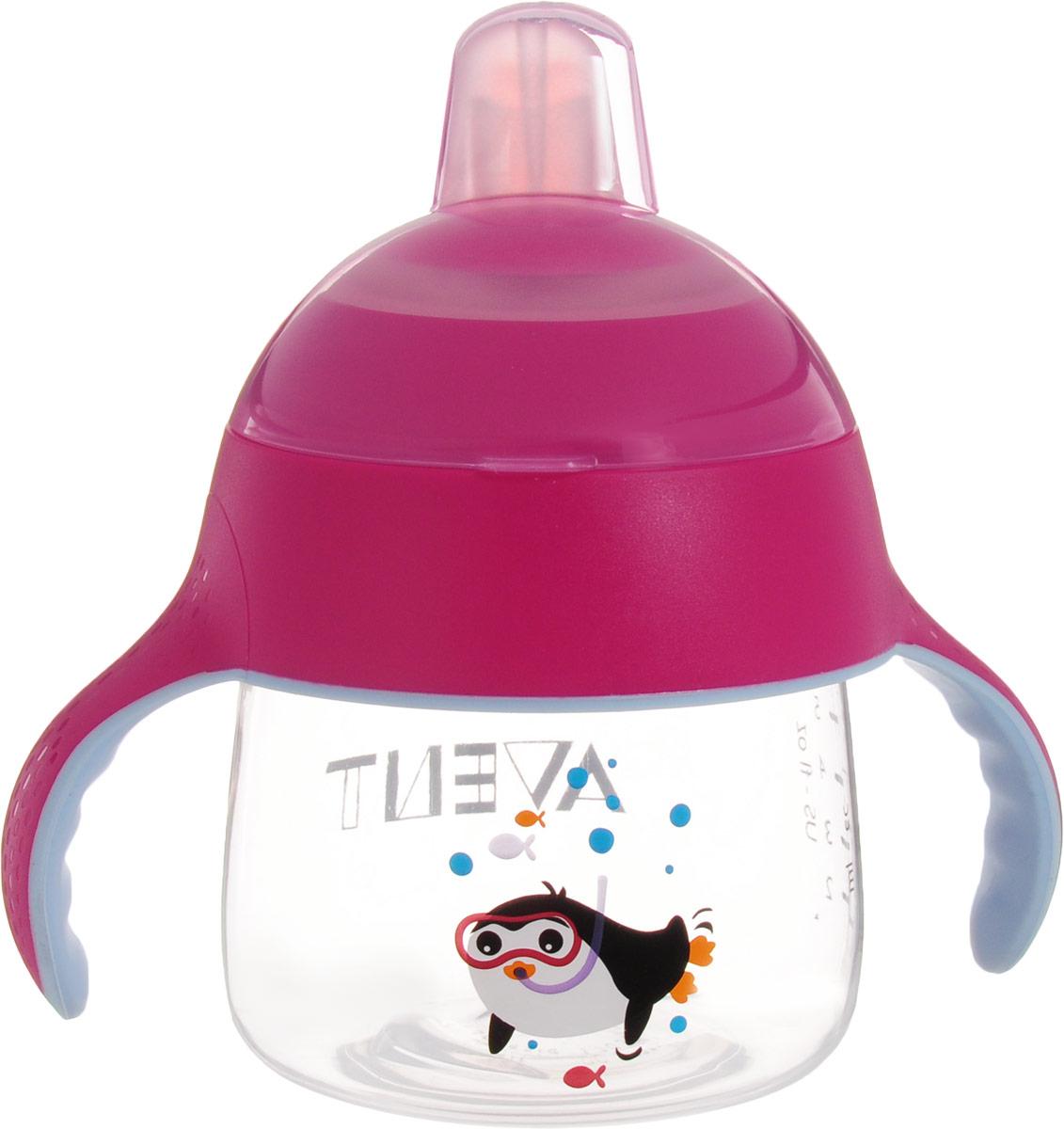 Philips Avent Волшебная чашка-непроливайка от 6 месяцев, цвет: розовый, 200 мл SCF751/00SCF751/00Чашка-поильник Philips Avent, выполненная из высококачественных материалов, обладает уникальным дизайном и функциональностью. Гибкий мягкий носик не травмирует десны и идеально подходит для детей, находящихся на этапе перехода от бутылочки к чашке. Расположенный под углом носик помогает малышу сделать первые глотки, не отклоняя голову назад слишком сильно. Во время питья малыш может держать шею в естественном положении. Благодаря клапану, предотвращающему проливание, из этой чашки не прольется ни капли, даже если ее встряхивать или переворачивать. Поступление воды обеспечивается только тогда, когда малыш пьет. Изделие оснащено двумя мягкими обучающими ручками, которые приучают малыша держать чашку и пить без посторонней помощи. Они не только подходят малышу по форме, но и препятствуют выскальзыванию. Защитный гигиеничный колпачок всегда сохраняет носик в чистоте - как дома, так и на прогулке. Все детали можно мыть в посудомоечной машине. ...