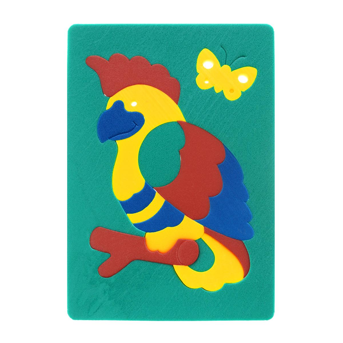 Мягкая мозаика Флексика Попугай, цвет: зеленый45541Мозаика Попугай состоит из разноцветных элементов, которые в собранном виде составляют изображение симпатичного попугая на жердочке. Мозаика выполнена из современного, легкого, эластичного, прочного материала, который обеспечивает большую долговечность и является абсолютно безопасным для детей.Благодаря особой структуре материала и свойству прилипать к мокрой поверхности, мозаика является идеальной игрушкой для ванны и сделает процесс купания приятной забавой для ребенка. Мягкая мозаика развивает у ребенка память, воображение, моторику, пространственное и логическое мышление. Обучение происходит прямо во время игры! УВАЖАЕМЫЕ КЛИЕНТЫ! Обращаем ваше внимание на возможные изменения в дизайне, связанные с ассортиментом продукции: цвет изделия или отдельных деталей может отличаться от представленного на изображении. Поставка осуществляется в зависимости от наличия на складе.