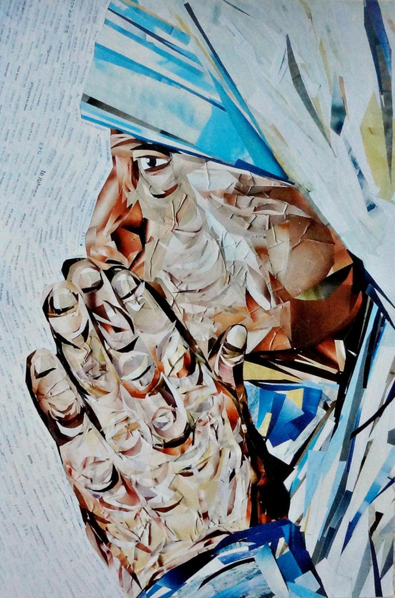 Авторская почтовая открытка Мать Тереза. Художник Ирина БастОМТАвторская почтовая открытка Мать Тереза. Лицевая сторона гладкая, с небольшим блеском. Обратная сторона шероховатая, мягкая, бархатистая. Писать по ней легко и приятно