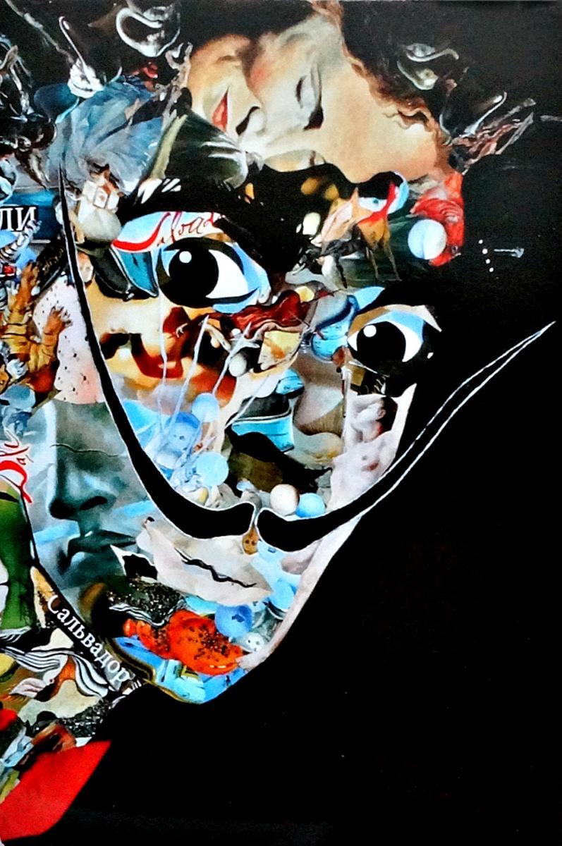 Авторская почтовая открытка Сальвадор Дали. Художник Ирина БастОСДАвторская почтовая открытка Сальвадор Дали. Лицевая сторона гладкая, с небольшим блеском. Обратная сторона шероховатая, мягкая, бархатистая. Писать по ней легко и приятно