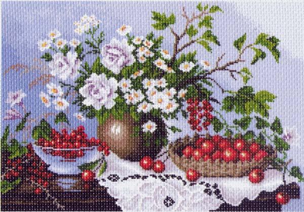 Канва с рисунком для вышивания Натюрморт с ягодами, 39 х 27 см549899_1232Канва с рисунком для вышивания Натюрморт с ягодами изготовлена из хлопка. Рисунок-вышивка выполненный на такой канве, выглядит очень оригинально. Вышивка выполняется в технике полный крестик в 2-3 нити или полукрестом в 4 нити. Вышивание отвлечет вас от повседневных забот и превратится в увлекательное занятие! Работа, сделанная своими руками, создаст особый уют и атмосферу в доме и долгие годы будет радовать вас и ваших близких, а подарок, выполненный собственноручно, станет самым ценным для друзей и знакомых. Рекомендуемое количество цветов: 24. Размер канвы: 37 см х 49 см.