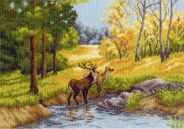 Канва с рисунком для вышивания Осенний день, 39 см х 27 см549900_1233Канва с рисунком для вышивания Осенний день изготовлена из хлопка. Рисунок- вышивка выполненный на такой канве, выглядит очень оригинально. Вышивка выполняется в технике полный крестик в 2-3 нити или полукрестом в 4 нити. Вышивание отвлечет вас от повседневных забот и превратится в увлекательное занятие! Работа, сделанная своими руками, создаст особый уют и атмосферу в доме и долгие годы будет радовать вас и ваших близких, а подарок, выполненный собственноручно, станет самым ценным для друзей и знакомых. Рекомендуемое количество цветов: 23. Размер канвы: 37 см х 49 см.