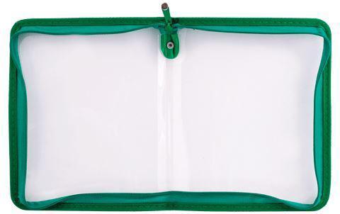 Папка (А4) на молнии, цвет: зеленый4