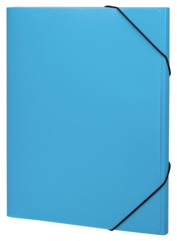 Erich Krause Папка Neon на резинках цвет голубой31018Практичная папка на резинках Erich Krause Neon пригодится в каждом офисе для хранения документов. Папка надежно закрывается при помощи угловых резинок. Благодаря использованию качественных материалов, безупречных технологий обработки и высокой функциональности, это стильное изделие выдержит даже самый напряженный рабочий день.