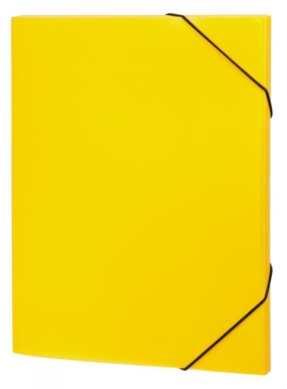 Папка А4 на резинках NEON, цвет: желтый