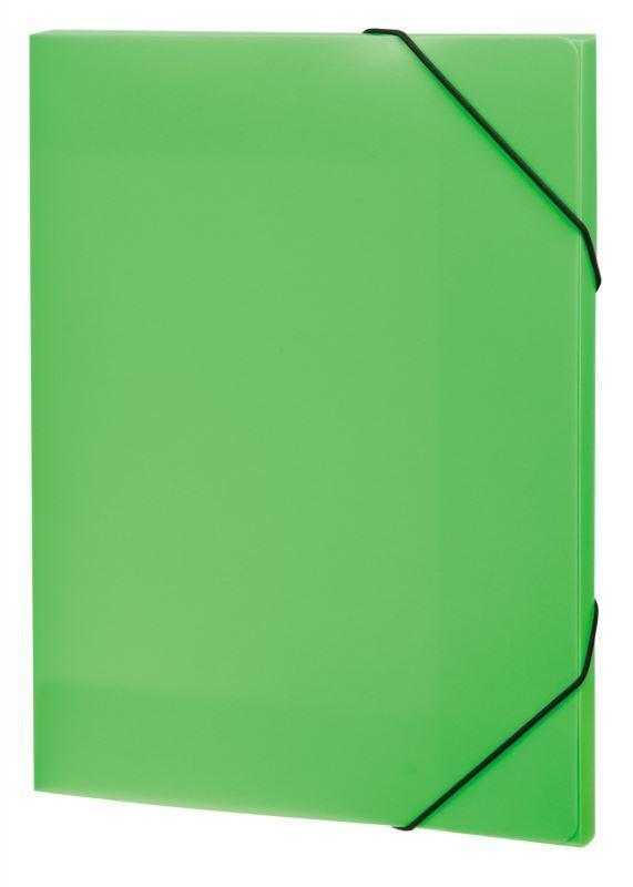 Папка А4 на резинках NEON, цвет: салатовый
