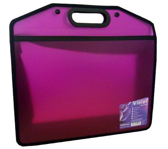 Портфель А4, цвет: фиолетовый