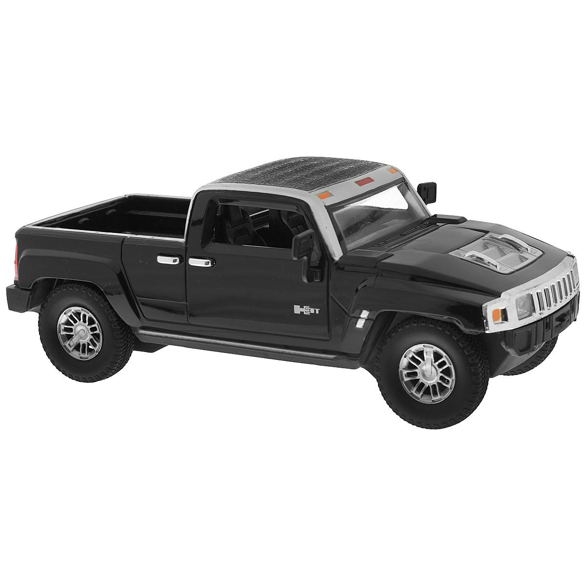Guokai Модель автомобиля Hummer H3T цвет черный866-82434_черныйИнерционная машинка Guokai Hummer H3T, выполненная из высококачественного пластика, станет любимой игрушкой вашего малыша. Игрушка представляет собой модель джипа марки Hummer. Игрушка оснащена инерционным ходом. Машинка может ехать как вперед, так и назад. Прорезиненные колеса обеспечивают надежное сцепление с любой гладкой поверхностью. При движении у машинки загораются фары и звучат реалистичные звуковые эффекты. Ваш ребенок будет часами играть с этой игрушкой, придумывая различные истории. Порадуйте его таким замечательным подарком! Рекомендуется докупить 3 батарейки напряжением 1,5V типа АА (товар комплектуется демонстрационными).