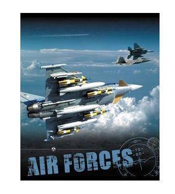 Тетрадь,48л Air Forces, УФ-лак