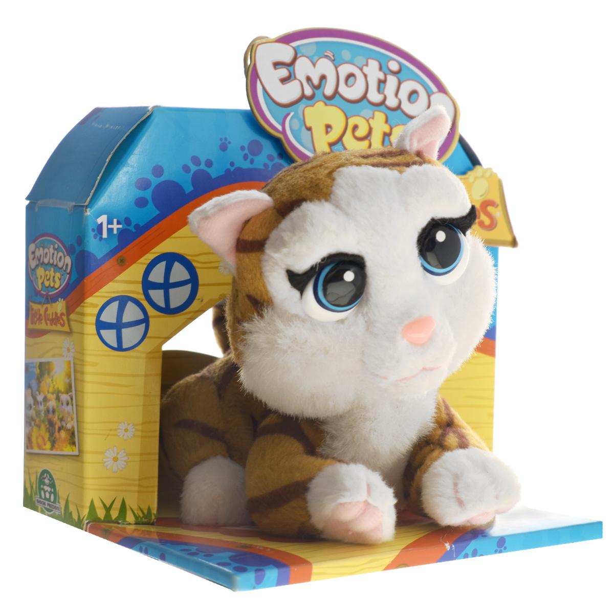 Анимированная игрушка Emotion Pets Little CherryGPH30277/1114119Анимированная игрушка Emotion Pets Little Cherry приведет в восторг вашего малыша. Приятная на ощупь игрушка выполнена в виде очаровательного котенка с пластиковыми глазками. При нажатии на кнопку на его спинке он виляет хвостиком, кивает головкой и поднимает одну лапку. Игрушка принесет ребенку много радости и станет верным другом на долгое время. Рекомендуется докупить 1 батарейку напряжением 1,5V типа АА (товар комплектуется демонстрационной).