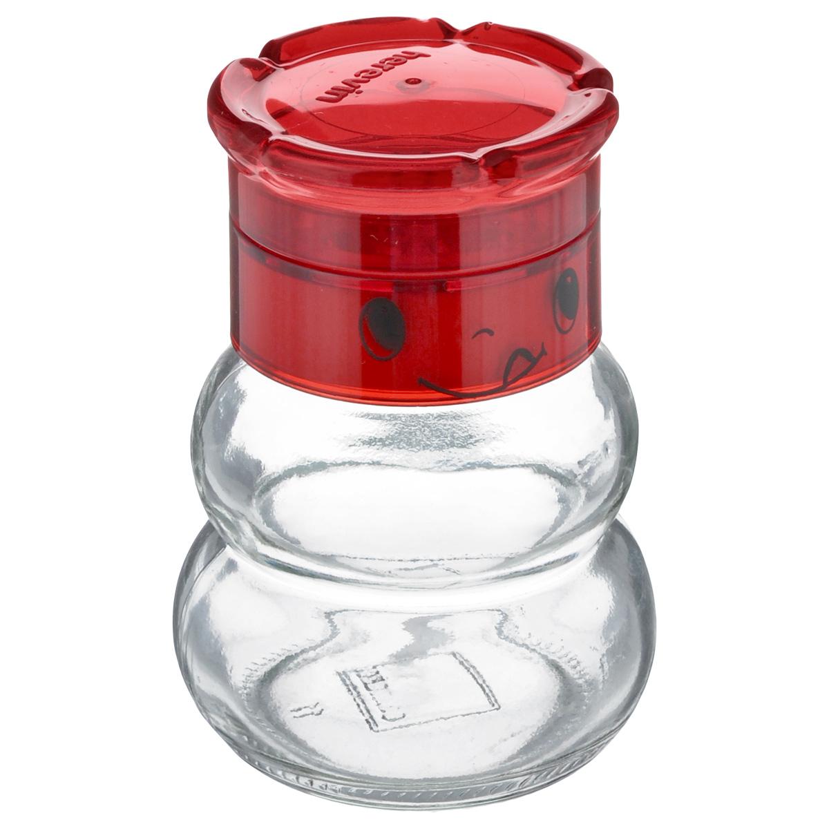 Перцемолка Solmazer, цвет: прозрачный, красный, 200 мл131650-000_прозрачный, красныйПерцемолка Solmazer предназначена для помола перца и других специй. Изделие, выполненное из стекла и прочного пластика, идеально подходит для сервировки стола. Перцемолка Solmazer добавит вашим блюдам яркие вкусовые краски. Созданная из высококачественных материалов и имеющая запатентованный и оригинальный механизм, перцемолка станет незаменимым атрибутом на вашем столе. Она удобна в использовании и имеет оригинальный современный дизайн, который станет ярким акцентом в интерьере вашей кухни. Диаметр основания: 6 см. Высота: 10 см. Объем: 200 мл.