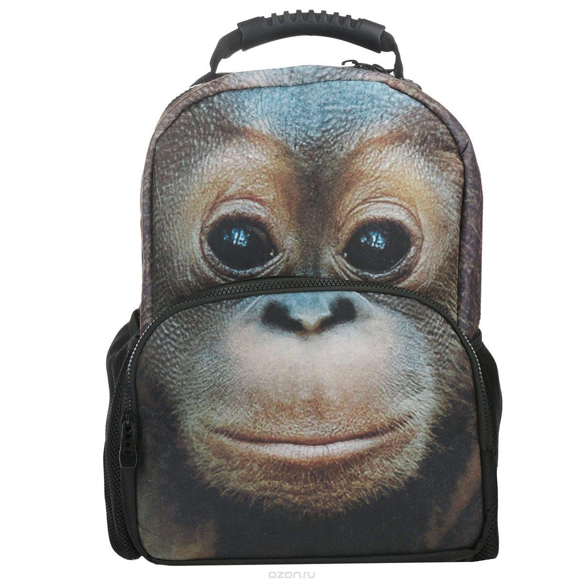 Рюкзак подростковый Hatber Trend Line Orangutan, цвет: черныйNR_00064Рюкзак подростковый Hatber Trend Line Orangutan выполнен из плотного флиса с изображением орангутанга. Содержит одно вместительное отделение, закрывающееся на застежку-молнию с двумя бегунками. На лицевой части рюкзак дополнен накладным карманом на молнии, внутри которого накладной карман, закрывающийся на липучку. По бокам ранца имеются открытые накладные карманы на резинке. Конструкция спинки дополнена эргономичными подушечками, противоскользящей сеточкой и системой вентиляции для предотвращения запотевания спины. Мягкие широкие лямки позволяют легко и быстро отрегулировать ранец в соответствии с ростом. Ранец оснащен текстильной ручкой с пластиковым уплотнителем. Этот рюкзак разработан специально для людей экстравагантных и модных, любящих быть в центре внимания.