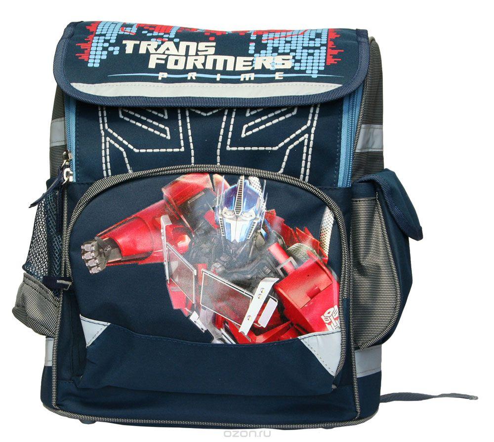 Ранец Seventeen Transformers. Prime, цвет: темно-синий, серыйTRBB-UT1-117Ранец Seventeen Transformers. Prime выполнен из современных водонепроницаемых и износостойких материалов. Ранец содержит одно вместительное отделение, закрывающееся на молнию и сверху клапаном с помощью застежки-липучки. Внутри отделения расположена перегородка для тетрадей или учебников, стянутая резинкой- фиксатором. Полностью откидывающийся верхний клапан обеспечивает легкий доступ в основное отделение. Под клапаном находится накладной карман на молнии. По бокам расположены два кармана, один из которых карман-сетка на резинке, а другой закрывается на застежку-липучку. Спинка ранца выполнена с использованием облегченной пластиковой вставки и расположенных поролоновых элементов с воздухообменной сеткой, служащих для правильного и безопасного распределения нагрузки на спину ребенка. Ранец оснащен широкими плечевыми ремнями, регулируемыми по длине, текстильной ручкой для переноски в руке. Дно ранца защищено пластиковыми ножками. Светоотражающие...