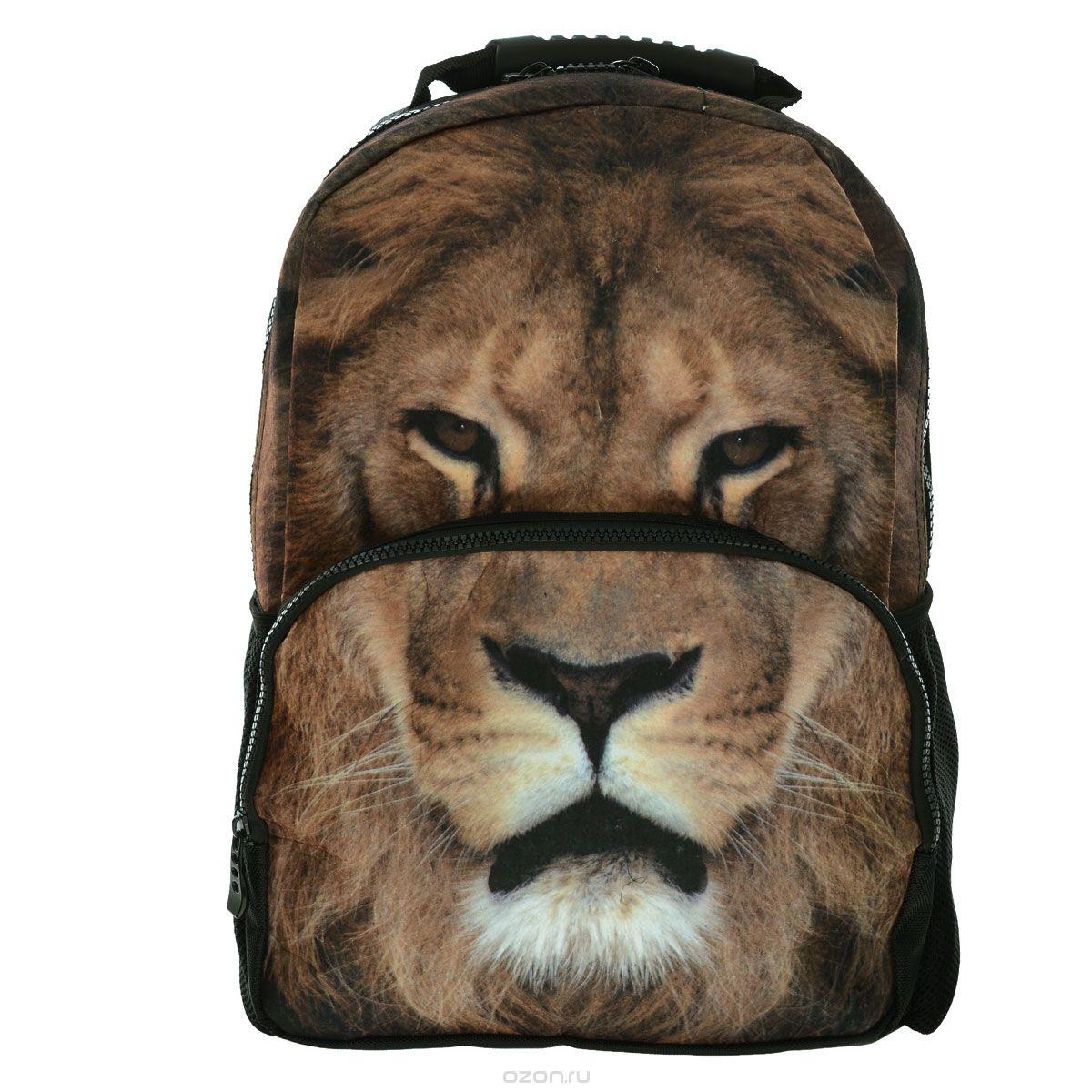 Рюкзак школьный Trend Line Lion, цвет: черныйNR_00062Стильный школьный рюкзак Trend Line выполнен из полиэстера, дополнен вставкой из флиса, которая оформлена художественной печатью с изображением Lion. Рюкзак имеет одно основное отделение, закрывающееся на застежку-молнию. Снаружи, на лицевой стороне, рюкзака размещен накладной карман на молнии, внутри которого предусмотрен еще один накладной карман на липучке. С двух сторон изделия расположены два накладных сетчатых кармашка. В верхней части изделия предусмотрена эргономичная ручка для переноски, а также предусмотрены регулируемые лямки. Такой рюкзак станет незаменимым спутником вашего ребенка в походах за знаниями.