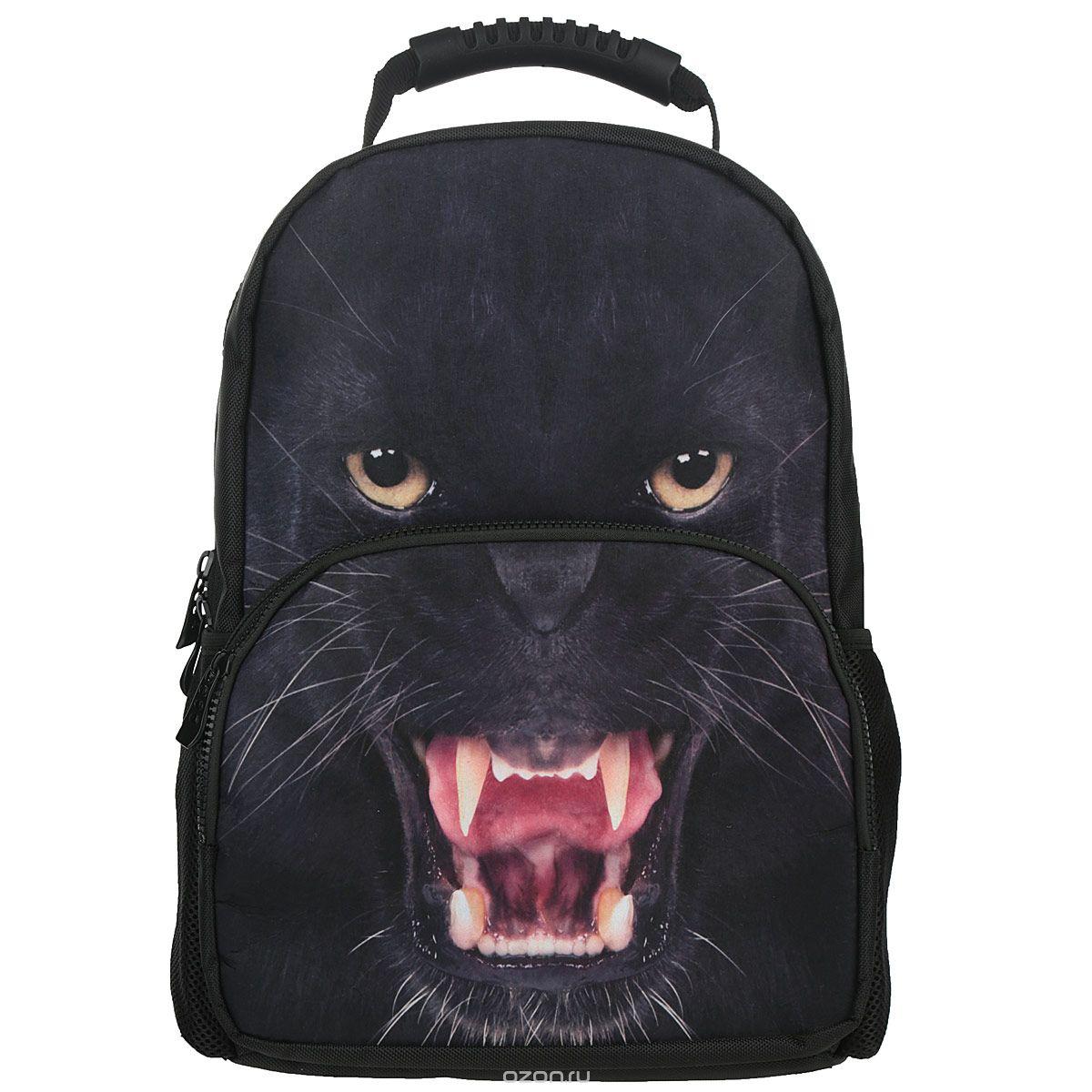 Рюкзак Trend Line PantherNR_00061Стильный школьный рюкзак Trend Line Panther выполнен из полиэстера, дополнен вставкой из флиса, которая оформлена художественной печатью с изображением пантеры. Рюкзак имеет одно основное отделение, закрывающееся на застежку-молнию. Снаружи, на лицевой стороне, рюкзака размещен накладной карман на молнии, внутри которого предусмотрен еще один накладной карман на липучке. С двух сторон изделия расположены два накладных сетчатых кармашка. В верхней части изделия предусмотрена эргономичная ручка для переноски, а также предусмотрены регулируемые лямки. Такой рюкзак станет незаменимым спутником вашего ребенка в походах за знаниями.