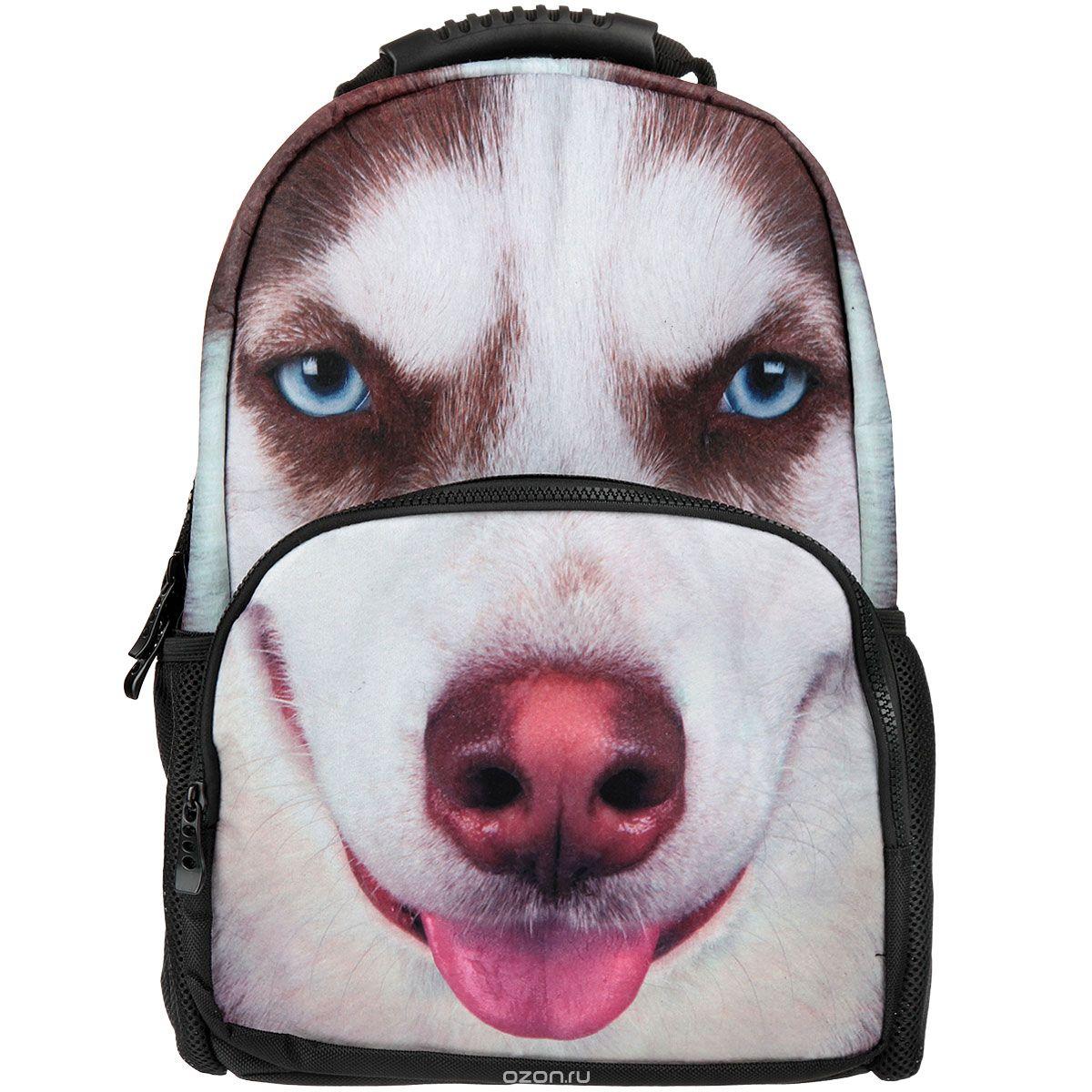 Рюкзак школьный Trend Line ХаскиNR_00055Стильный школьный рюкзак Trend Line выполнен из полиэстера, дополнен вставкой из флиса, которая оформлена художественной печатью с изображением собаки породы Сибирский хаски. Рюкзак имеет одно основное отделение, закрывающееся на застежку-молнию. Снаружи, на лицевой стороне, рюкзака размещен накладной карман на молнии, внутри которого предусмотрен еще один накладной карман на липучке. С двух сторон изделия расположены два накладных сетчатых кармашка. В верхней части изделия предусмотрена эргономичная ручка для переноски, а также предусмотрены регулируемые лямки. Такой рюкзак станет незаменимым спутником вашего ребенка в походах за знаниями.