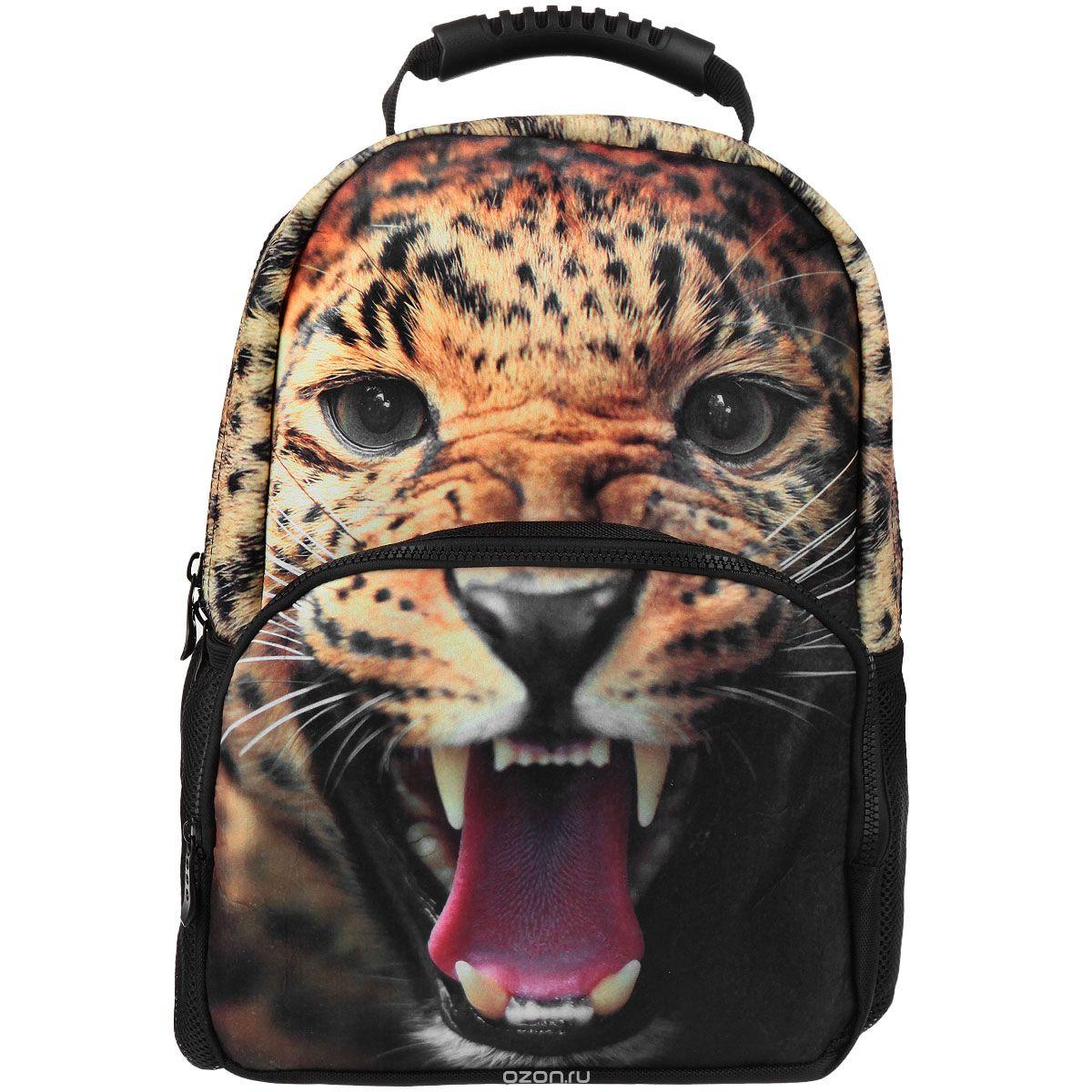Рюкзак школьный Trend Line Leopard, цвет: черныйNR_00060Стильный школьный рюкзак Trend Line выполнен из полиэстера, дополнен вставкой из флиса, которая оформлена художественной печатью с изображением леопарда. Рюкзак имеет одно основное отделение, закрывающееся на застежку-молнию. Снаружи, на лицевой стороне, рюкзака размещен накладной карман на молнии, внутри которого предусмотрен еще один накладной карман на липучке. С двух сторон изделия расположены два накладных сетчатых кармашка. В верхней части изделия предусмотрена эргономичная ручка для переноски, а также предусмотрены регулируемые лямки. Такой рюкзак станет незаменимым спутником вашего ребенка в походах за знаниями.