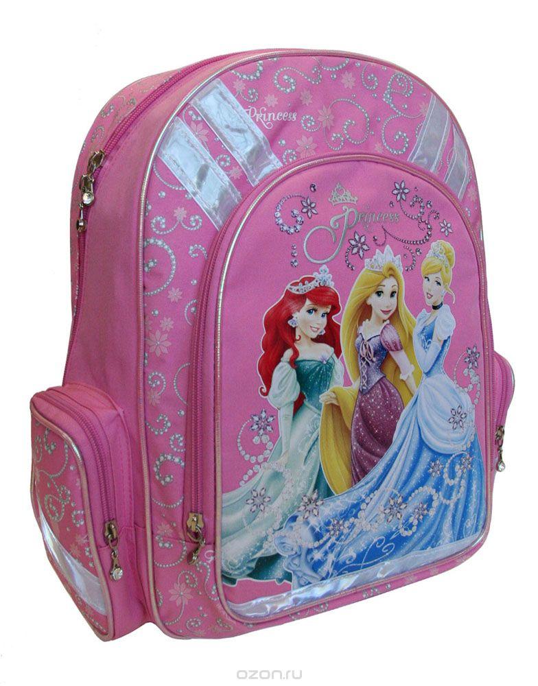 Рюкзак детский Disney Princess, цвет: розовый. PRBB-RT2-836PRBB-RT2-836Спинка рюкзака Disney Princess выполнена с использованием высокотехнологичного упругого материала (EVA) и специально расположенных эргономических элементов с воздухообменной сеткой, служащих для правильного и безопасного распределения нагрузки на спину ребенка. Лямки рюкзака специальной S-образной формы с поролоном и воздухообменной сеткой регулируются по длине. Данные конструктивные особенности помогут обеспечить максимальный комфорт при ношении рюкзака за спиной ребенку любой комплекции. Disney Princess, оборудован основным отделением с двумя разделителями, вместительным карманом на фронтальной стенке рюкзака, в который можно положить изделия форматом до А4 включительно. Внутри кармана есть органайзер для ручек, пеналов и мелочей. Рюкзак также снабжен двумя боковыми карманами и текстильной ручкой с резиновым захватом. Дно рюкзака можно сделать жестким, разложив специальную панель с пластиковой вставкой, что повышает сохранность содержимого...