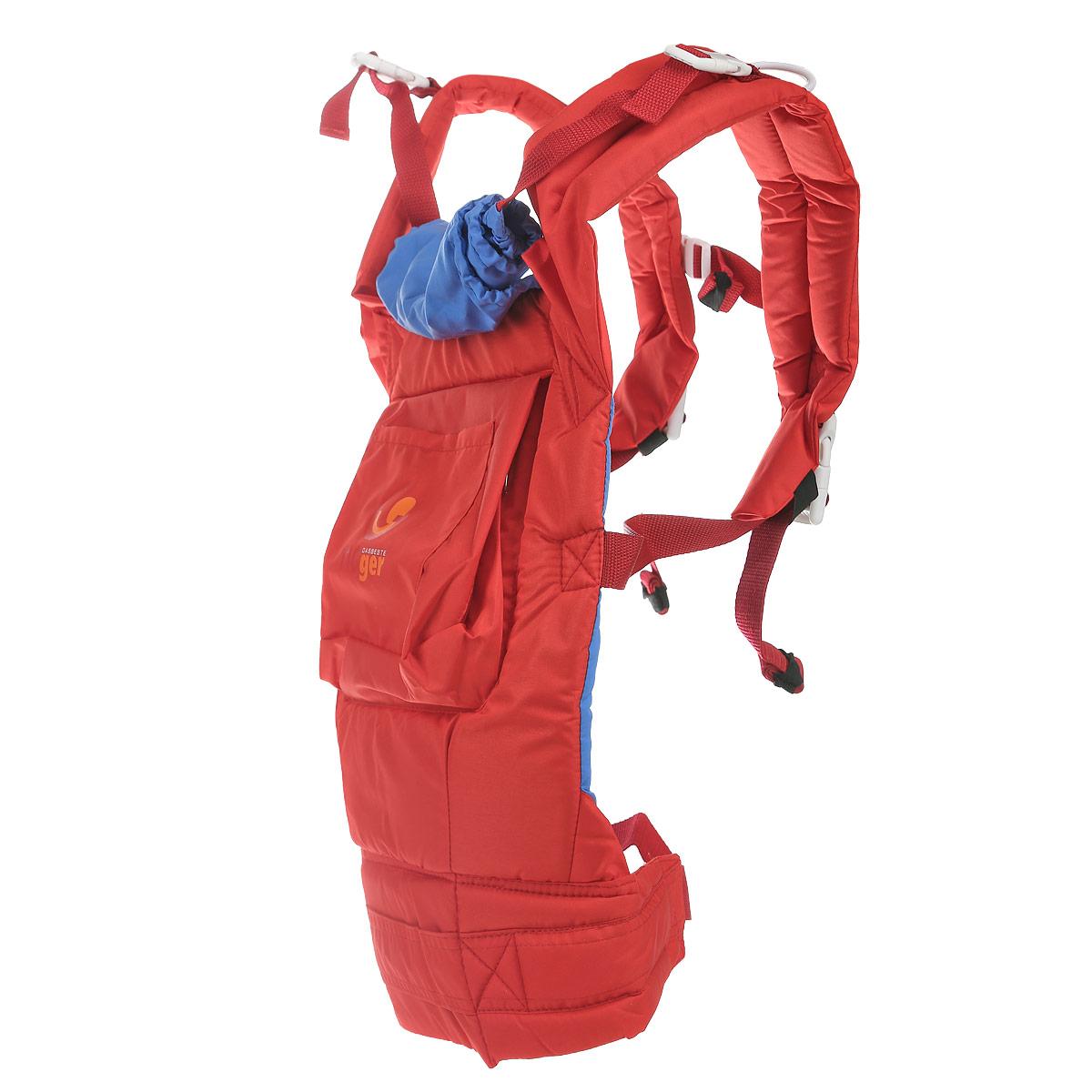 Рюкзак-переноска TIGger Tigger, с капюшоном, цвет: красный, голубой1107.03Обеспечивает физиологически правильное положение ребенка и является безопасным для переноски детей. Простая и удобная регулировка лямок. легко одевается и снимается. Регулируемый пояс для поддержки спины родителя. Широкие лямки с набивкой снижают нагрузку на спину. Складывающийся капюшон. Три положения: к себе, на бедре, за спиной. Рекомендуется использовать с 4-х месяцев, для детей, которые уже могут сидеть. Вес ребенка до 18 кг.
