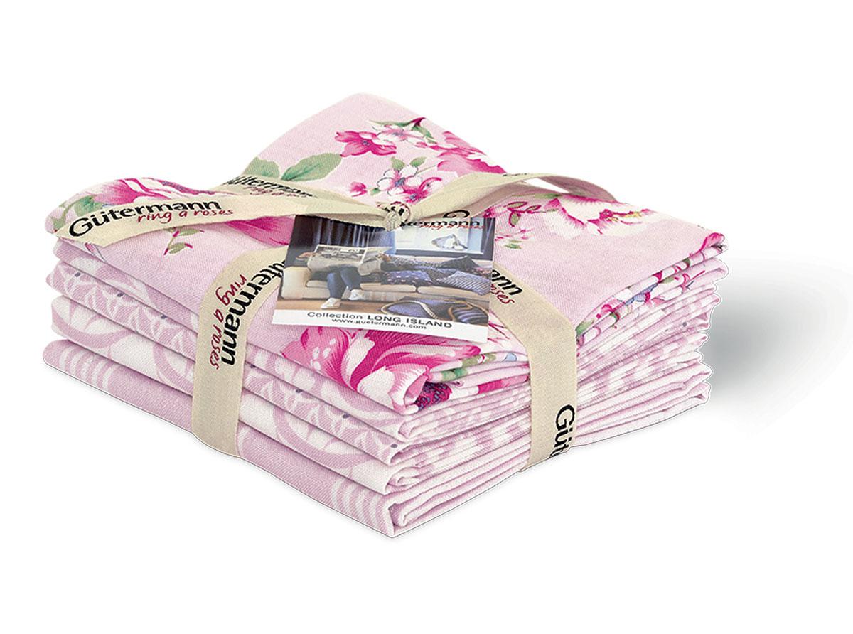 Ткань для пэчворка Long Island, цвет: розовый, 45 х 55 см, 5 шт7713824_1Ткань Long Island изготовленная из 100% хлопка и украшенная цветами, предназначена для пэчворка. Пэчворк - это вид рукоделия, при котором по принципу мозаики сшивается цельное изделие из кусочков ткани (лоскутков). Ткань используется для изготовления одеял, покрывал, сумок, аппликаций и прочих изделий в лоскутной технике, а также пошива кукол, аксессуаров и одежды. Хлопковая ткань не линяет, малоосыпаема на срезах.
