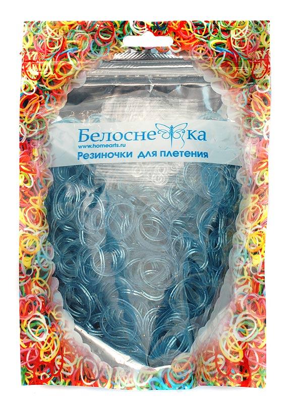 Резиноки для плетения, 1000 шт., голубой с блестками15100123РРезинки для плетения - 1000 шт. S и C - образные крепления- 32 шт.