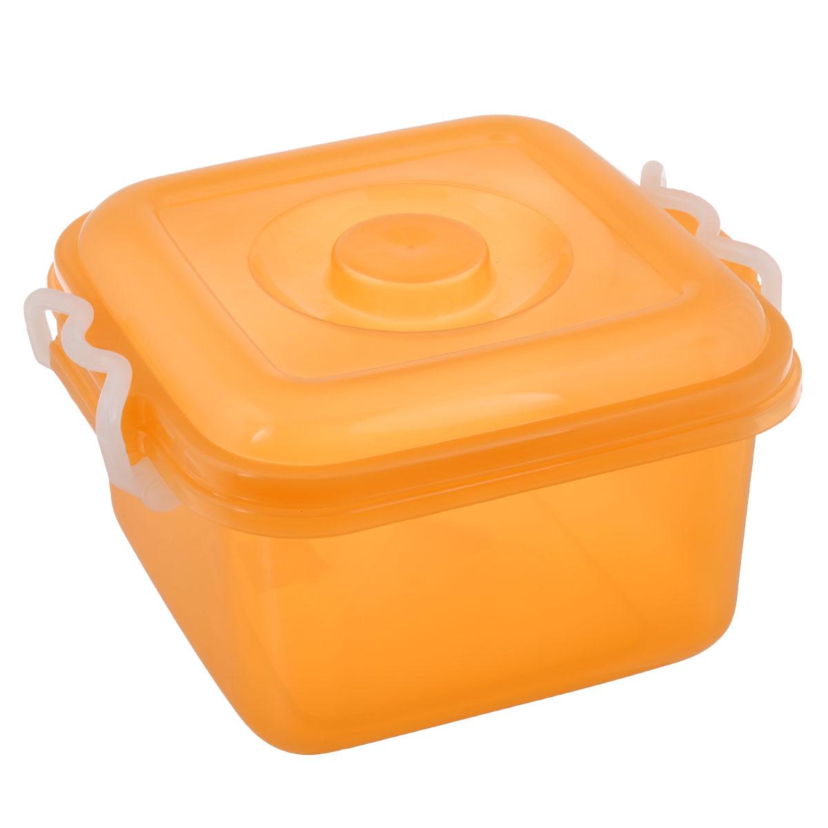 Контейнер для хранения Idea Океаник, цвет: оранжевый, 6 лМ 2855Контейнер Idea Океаник выполнен из пищевого пластика, предназначен для хранения различных вещей. Контейнер снабжен эргономичной плотно закрывающейся крышкой со специальными боковыми фиксаторами. Объем контейнера: 6 л.