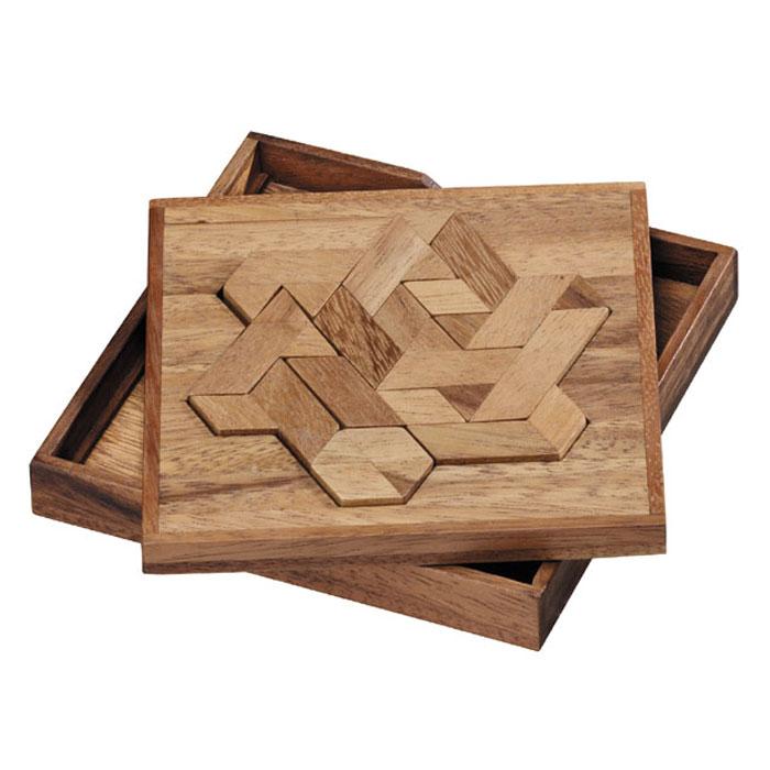 Dilemma Головоломка ГексиамондIQ312Головоломка Dilemma Гексиамонд, выполненная из дерева, станет отличным подарком всем любителям головоломок! Игра включает 12 деревянных деталей (которые выполнены в форме соединенных вместе равносторонних треугольников). Попробуйте собрать 12 двухмерных фигур, используя в каждой из них все 12 деталей. Слишком сложно? Тогда вы можете воспользоваться предложенным решением в качестве подсказки. Игра рассчитана на одного игрока. Головоломка Dilemma Гексиамонд стимулирует логику, пространственное мышление и мелкую моторику рук.