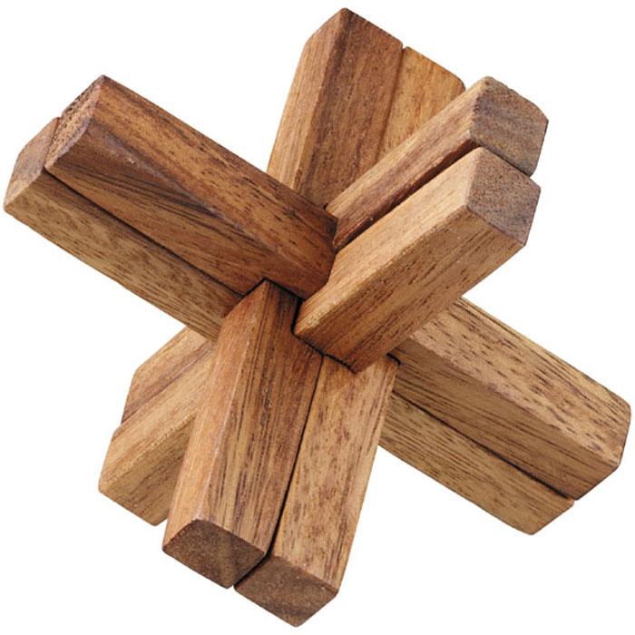 Dilemma Головоломка Игра XIQ103Головоломка Dilemma Игра X, выполненная из дерева, станет отличным подарком всем любителям головоломок! Игра X представляет собой пазл Колючка. Что такое пазл Колючка? Не менее 3 деталей должны пересекаться под прямыми углами. Самый известный пазл подобного типа - Колючка из 6 элементов, содержащий 3 набора пар деталей, пересекающихся друг с другом. Пазл X состоит из 6 деревянных деталей. Разберите пазл и соберите его снова в трехмерную пересекающуюся конструкцию. Слишком сложно? Воспользуйтесь подсказкой из предложенного решения. Игра рассчитана на одного игрока. Головоломка Dilemma Игра X стимулирует логику, пространственное мышление и мелкую моторику рук.