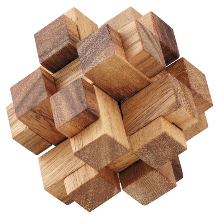 Dilemma Головоломка Квадратные кубики 8х8х8 смIQ118Головоломка Dilemma Квадратные кубики, выполненная из дерева, станет отличным подарком всем любителям головоломок! Звезда состоит из 12 одинаковых деревянных деталей. Попытайтесь разобрать звезду и соберите ее снова. Слишком сложно? Воспользуйтесь подсказкой из предложенного решения. Игра рассчитана на одного игрока. Головоломка Dilemma Квадратные кубики стимулирует логику, пространственное мышление и мелкую моторику рук.
