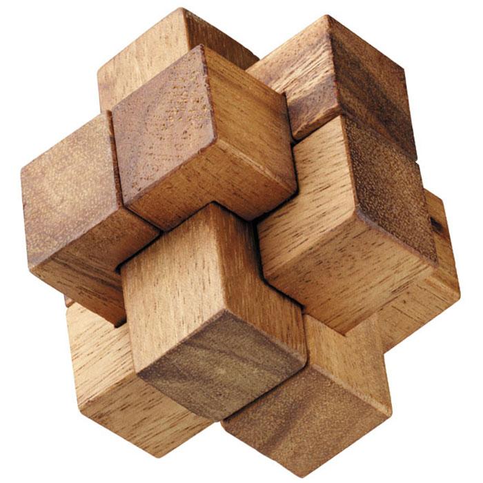 Dilemma Головоломка Колючка IQ157 5х5х5 смIQ157Головоломка Dilemma Колючка, выполненная из дерева, станет отличным подарком всем любителям головоломок! Головоломка для одного игрока. Представляет собой 6 деревянных элементов. Не менее трех элементов должны пересекаться под прямыми углами. Необходимо разобрать и собрать снова в трехмерную пересекающуюся конструкцию. Слишком сложно? Тогда вы можете воспользоваться подсказкой, которая находится в инструкции. Головоломка Dilemma Колючка стимулирует логику, пространственное мышление и мелкую моторику рук.