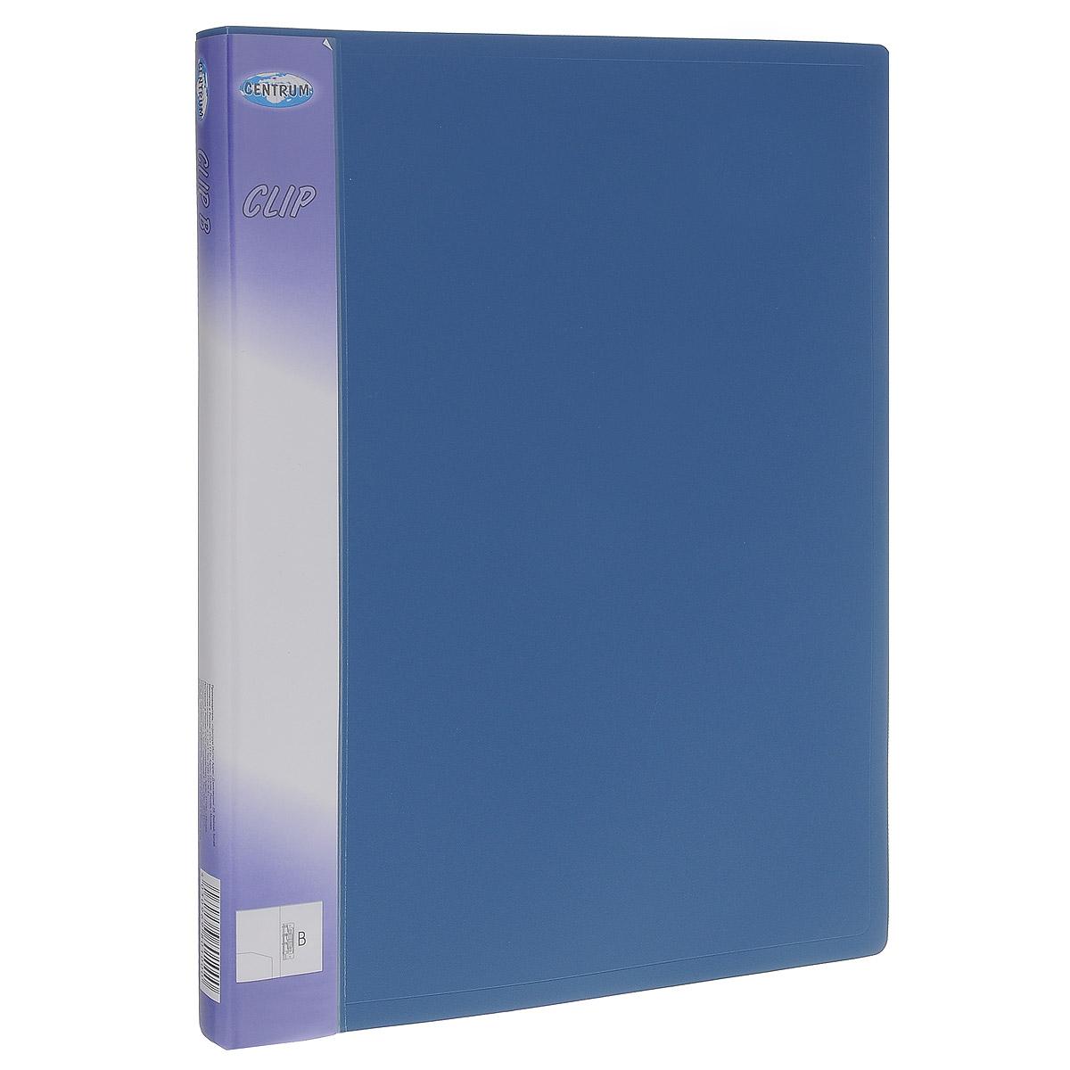 Папка с боковым зажимом Centrum Clip, цвет: синий. Формат А480100_синийПапка с боковым зажимом Centrum Clip - это удобный и практичный офисный инструмент, предназначенный для хранения и транспортировки рабочих бумаг и документов формата А4. Папка изготовлена из прочного пластика и оснащена металлическим зажимом и внутренним прозрачным кармашком. Папка с боковым зажимом - это незаменимый атрибут для студента, школьника, офисного работника. Такая папка надежно сохранит ваши документы и сбережет их от повреждений, пыли и влаги.