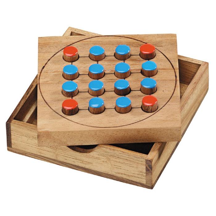 Dilemma Головоломка Лисы и баранIQ204Головоломка Dilemma Лисы и баран, выполненная из дерева, станет отличным подарком всем любителям головоломок! Игра состоит из доски, 12 фишек (баранов) одного цвета и 4 фишек (лис) другого цвета. Цель: Лисы (игрок 1) охотятся за баранами. Бараны (игрок 2) ловят лис. Стратегическая игра для двух игроков. Головоломка Dilemma Лисы и баран стимулирует логику, пространственное мышление и мелкую моторику рук.
