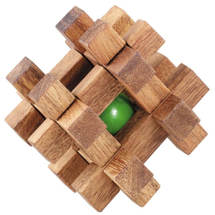 Dilemma Головоломка Шар в клетке 5 смIQ156Головоломка Dilemma Шар в клетке, выполненная из дерева, станет отличным подарком всем любителям головоломок! Куб состоит из шара и 12 деревянных элементов пяти разных форм. Вам нужно попытаться освободить шар (это не так сложно), а затем снова заключите его в куб (это непросто). Слишком сложно? Тогда воспользуйтесь подсказкой, находящейся в инструкции. Рассчитана игра на одного игрока. Головоломка Dilemma Шар в клетке стимулирует логику, пространственное мышление и мелкую моторику рук.